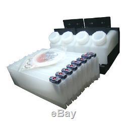 US Stock- Roland Mimaki Mutoh Bulk Ink System 4 Bottles, 8 Cartridges OEM