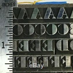 Ultra Bodoni Bold 30 pt Letterpress Type Printer Metal Lead Printing Sorts