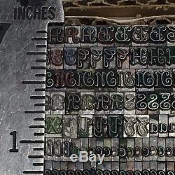 Unknown Font 14 pt Letterpress Type Printer's Metal Lead Printing Sorts