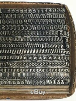 Unknown Font 18 pt Letterpress Type Printer's Metal Lead Printing Vintage