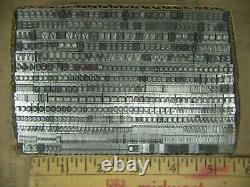 Unknown Font Name 18 pt. Letterpress Metal type Printers Type