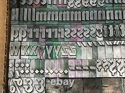 Valiant 48 pt. Letterpress Metal type Printers Type