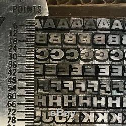 Venus Extra Bold Extended 12 pt Letterpress Type Printer's Lead Metal Font