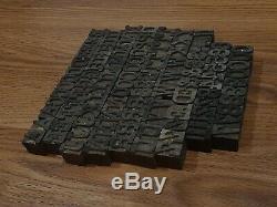 Vintage 1 Alphabet Letters Letterpress Wooden Printing Blocks Wood Type Numbers
