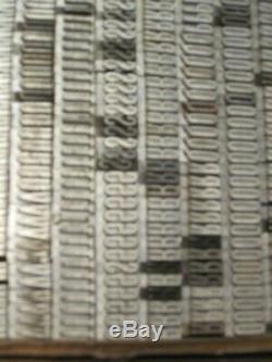 Vintage 24 Pt, XXCond Gothic, withAlter Letterpress Printing Type Font Upper Case