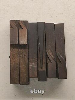 Vintage 2 11/16 Page & Co Wood Letterpress Print Type Block Letters Set Lot 2
