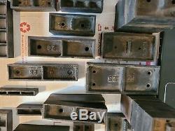 Vintage 69 lot Assorted Steel Spacing Kit block Printing Press Letterpress BB&S