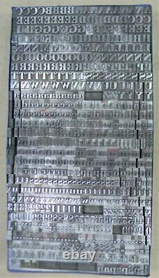 Vintage Alphabets Letterpress Printing Type 24pt Lithograph MN59 12#