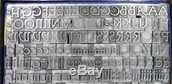 Vintage Alphabets Metal Letterpress Print Type BB&S 36pt Parsons ML96 9#