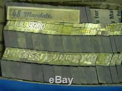 Vintage Letterpress Ludlow Matrix Mat 48pt Mandate LL41 15#