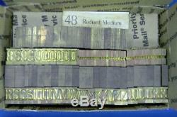 Vintage Letterpress Ludlow Matrix Mat 48pt Radiant Medium LL34 13#