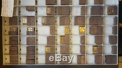 Vintage Letterpress Ludlow Matrix Mat 72pt Bodoni Black LL62 22#