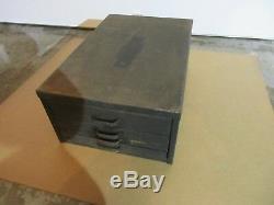 Vintage Letterpress Showcard Steal Type Cabinet J28