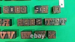 Vintage Letterpress Wood/wooden Printing Block Typography 16 line set 8 Picas