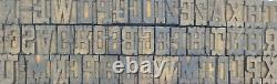 Vintage Letterpress wood/wooden printing type block 106 pc 26mm #TP117