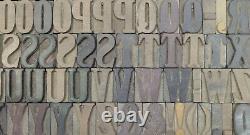 Vintage Letterpress wood/wooden printing type block typography 108 pc 34mm#TP-21