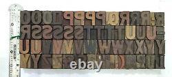Vintage Letterpress wood/wooden printing type block typography 120 pc 27mm#TP-50