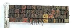 Vintage Letterpress wood/wooden printing type block typography 97 pc 16mm#TP-81