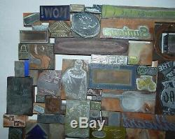 Vintage Lot 150 Letterpress Printing Printers Blocks