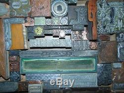 Vintage Lot Of Letterpress Printing Printers Blocks