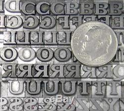 Vintage Metal Letterpress Print Type 18pt Cheltenham Bold Extended ML83 5#