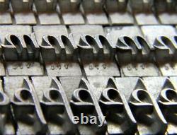 Vintage Metal Letterpress Print Type ATF #577 30pt Park Avenue MN62 10#