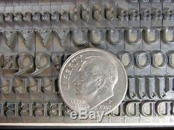 Vintage Metal Letterpress Printing Type 18pt Goudy Open D2 6#