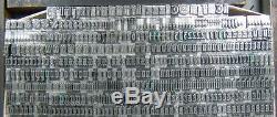 Vintage Metal Letterpress Printing Type 18pt Goudy Text D21 7#