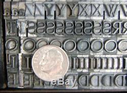 Vintage Metal Letterpress Printing Type 24pt Bernhard Modern Roman B85 12#