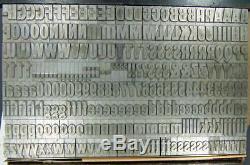 Vintage Metal Letterpress Printing Type 48pt Tourist Gothic withalts D14 13#