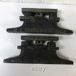 Vintage Morgans & Wilcox Mfg. Co. Expansion Locks (PAIR) Industrial Letter Press