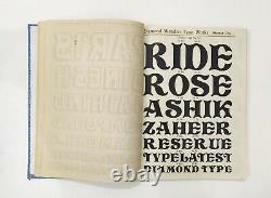 Vintage Specimen Book Of India Type foundry Hindi, English etc, Hard Bound Bk-3