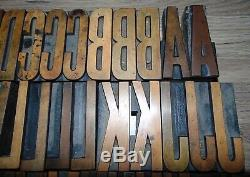 Vintage Wood LETTERPRESS Printing Blocks Type 3 5/16 Tall