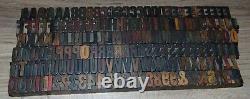 Vintage Wood Letterpress Type 13/16 Tall