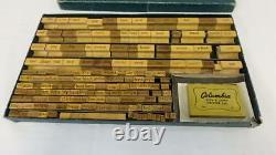 Vintage Wood Stamp Print Ink Set Beckley Cardy Co. Chart Printer Set