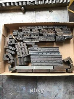 Vintage letterpress printing wood type 1/4 inch thickness appx 75 pieces