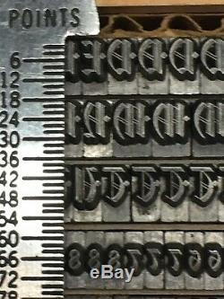 Waldorf Text 18 pt Letterpress Type Vintage Printing Sorts Font Fonts
