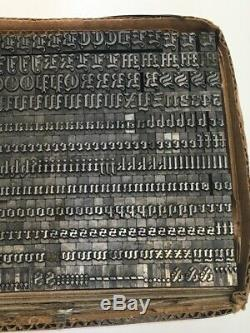 Wedding Text 30 pt Letterpress Type Printer's Metal Lead Printing Sorts