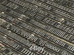 Winchell Condensed 24 pt Letterpress Type Vintage Metal Printing Sorts Font