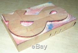 Wood LETTERPRESS Print Type Block ALPHABET 5 Tall Missing Letters K, Q, X, Z