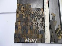 Wood Type 6 Line Gothic Letterpress Printing Type Nice Size Font