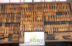 Wood Type French Clarendon 146 Pcs of 4 Inch