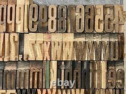 Wood Type GOTHIC CONDENSED letterpress alphabet printing 1 CAPS/lc/num/punct