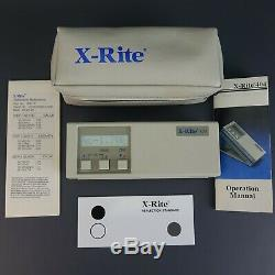X-Rite 404 A 3 Color Reflection Densitometer Calibrated with Calibration Kit