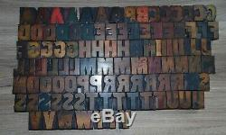 103 Bois Typo Blocs D'impression Type De Majuscules Alphabet Partiel
