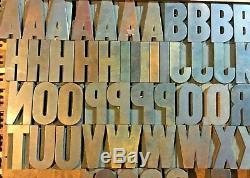 110 Antique Vintage Bois Letterpress Type D'impression Blocs Lettres Numéros 2 1/2