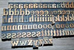 140 13/16 Bois Typo Blocs D'impression Type De Minuscules Alphabet
