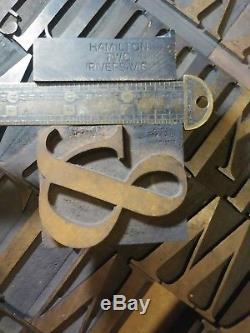 160 Presses À Imprimer Typographiques En Bois Antiques Hamilton 2.5 Serif Caslon