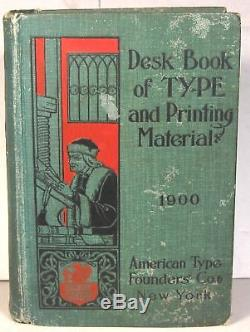 1900 American Type Founders Livre De Spécimens Et Catalogue De Machines D'impression