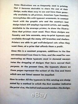 1944 American Type Founders Catalogue Intitulée Ornements Typeset Par Atf